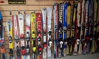 Детские б/у горные лыжи